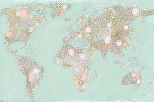 Artsy World Mint by Lynn Mack