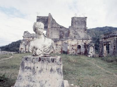 Unidentified Ruins Including Bust of a Woman in Haiti by Lynn Pelham