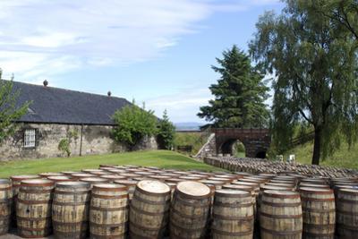 Barrels Waiting to Be Filled, Glenmorangie Distillery, Tain, Scotland