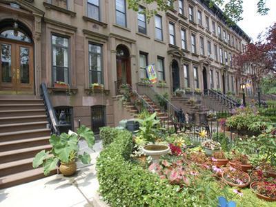 Brownstone in Brooklyn, New York, USA