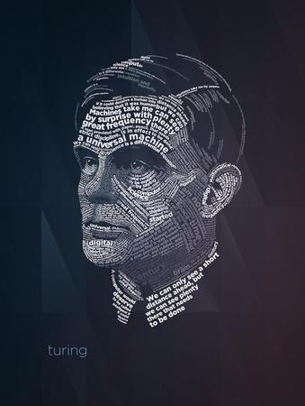Alan Turing Typography Quotes