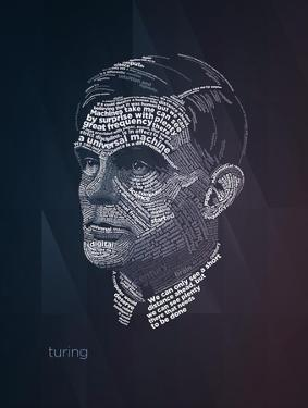 Alan Turing Typography Quotes by Lynx Art Collection