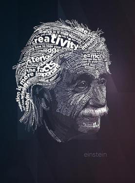 Albert Einstein Typography Quotes by Lynx Art Collection