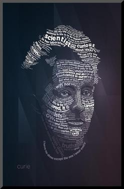 Marie Curie Typography Quotes by Lynx Art Collection