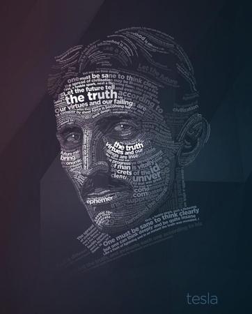 Nikola Tesla Typography Quotes