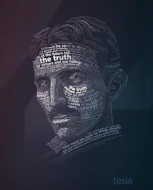 Nikola Tesla Typography Quotes by Lynx Art Collection