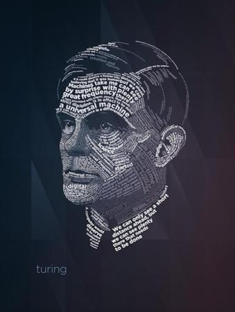 Turing Typography Quotes by Lynx Art Collection