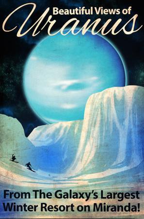 Uranus Retro Space Travel