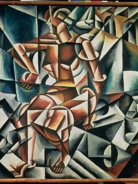 Man + Air + Space, 1915 by Lyubov Sergeevna Popova