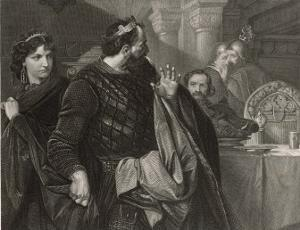 Macbeth, He Alone Sees Banquo's Ghost at the Banquet by M. Adamo