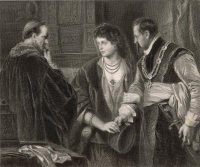 The Winter's Tale, Leontes Nurses Suspicions of His Wife Hermione and Their Visitor Polixenes