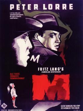 M, Belgian Movie Poster, 1931