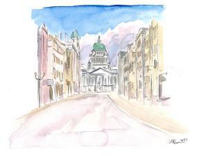 Belfast Northern Ireland Street Scene in Ulster by M. Bleichner