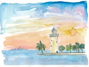 Boca Chita Key Biscayne Lighthouse by M. Bleichner