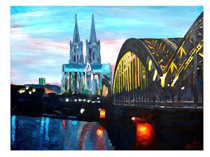 Cologne - Kolner Dom mit Hohenzollernbrucke by M Bleichner