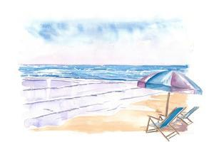 Coopers Beach Southampton NY Hamptons Style Scene by M. Bleichner