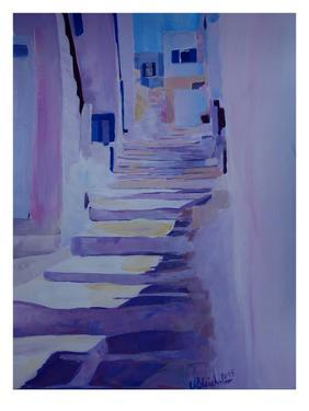 Enchanting Mykonos Greek Islands Stairs by M Bleichner