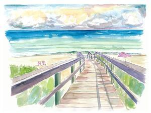 Florida Beach Walk During Quiet Afternoon by M. Bleichner