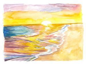Golden Caribbean Sun Bathing in the Sea by M. Bleichner