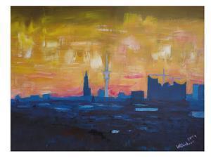 Hamburg Skyline Dusk 2 by M Bleichner