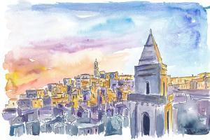 Matera Basilicata Italy Sassi Sunset by M. Bleichner