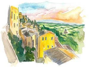 Montepulciano Italy View Of Tuscany by M. Bleichner