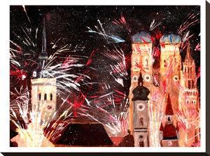 Munchen Silvester Feuerwerk by M Bleichner