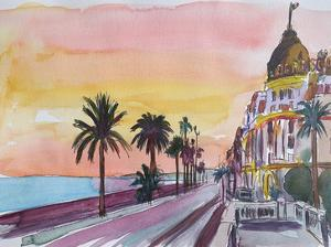 Nice France Seaview At Sunset by M Bleichner