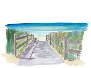Path To The Blue and Turquoise Sea by M. Bleichner
