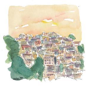 Rio De Janeiro Largo Do Boticario Old Town Houses by M. Bleichner