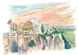Ronda Cityview With Tajo Canyon Andalusia Spain by M. Bleichner