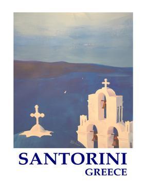 Santorini Greek Island Classical Poster by M Bleichner