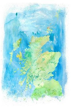 Scotland Clean Iconic Map by M. Bleichner