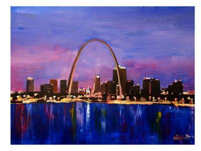 St Louis Arch Gateyway At Sunset