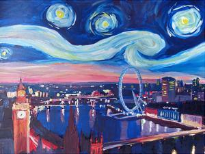 Starry Night In London by M Bleichner