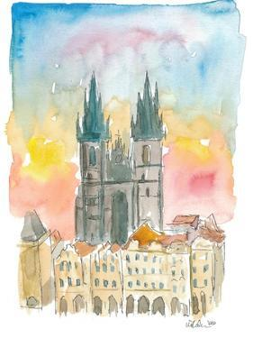 Tyn Cathedral In Prague Czech Republic Impressionistic View by M. Bleichner
