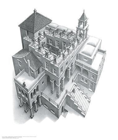 Ascending and Descending by M. C. Escher