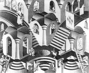 Concave and Convex by M. C. Escher