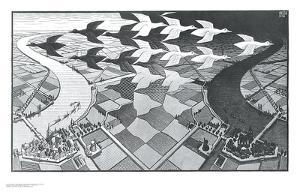 Day and Night by M^ C^ Escher