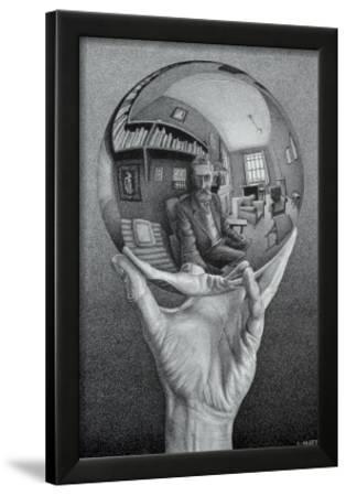Hand with Globe by M. C. Escher