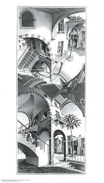 High and Low by M^ C^ Escher