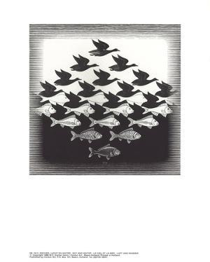 Sky and Water by M.C. Escher