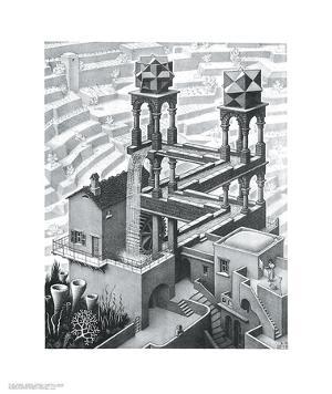 Waterfall by M^ C^ Escher