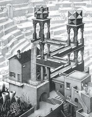 Waterfall by M. C. Escher