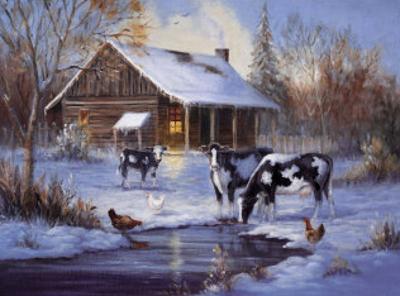 Winter Farm by M. Caroselli