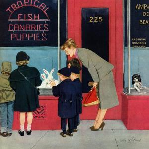 """Bunnies for Sale"", April 12, 1952 by M. Coburn Whitmore"