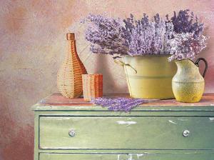 Flowers on a Sideboard IV by M. de Flavis