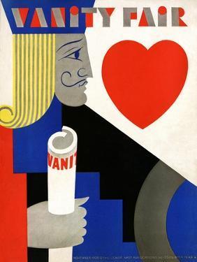 Vanity Fair Cover - November 1929 by M. F. Agha