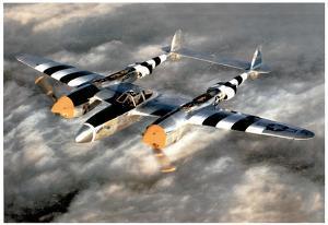 M F Winter Lockheed P-38 Lightning WWII Photo Print Poster