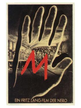 M, German Movie Poster, 1931